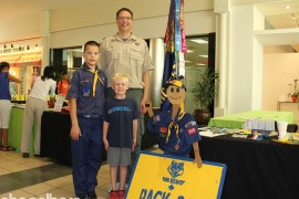 Adam Roeder, Eric Roeder and Drew Roeder with Boy Scout Pack 845