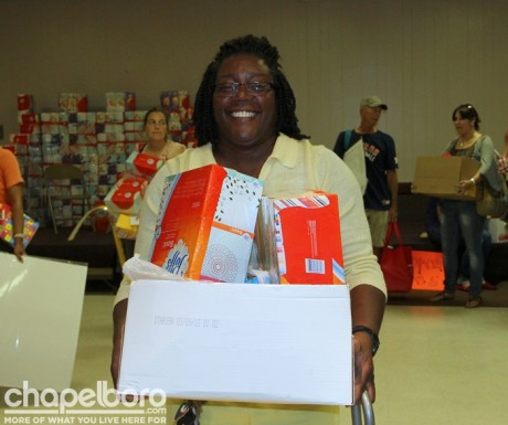 Antoinette Joyner was happy with her purchases!