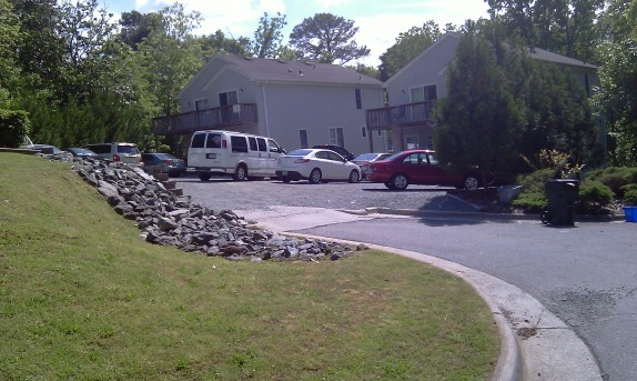 Parking at a residence on Carver Street in the Northside neighborhood before parking limit was put in place. Photo courtesy of Hudson Vaughn