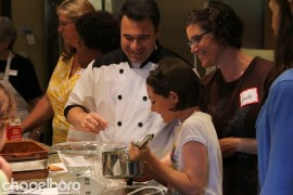 Chef Brian Adronetto with Zoe and Jennifer