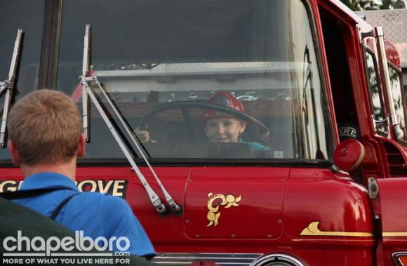 Ethan Tyler loved the firetruck!