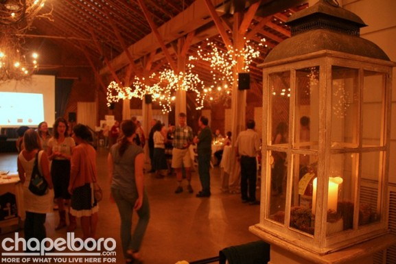 The Fearrington Barn was beautifully decorated for the event!
