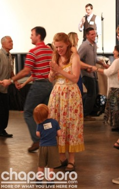 Elizabeth Bonitz dances with her son Henry Bonitz.