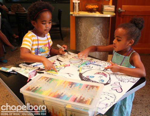 Karma Zuri and Eden Amani were inside coloring