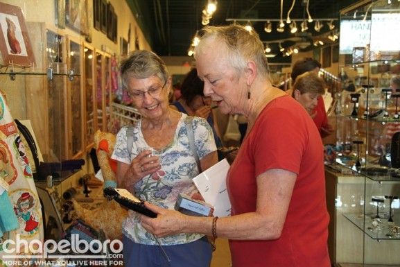 Nancy Avery and Cecilia Mendard shopping for their new favorite things!