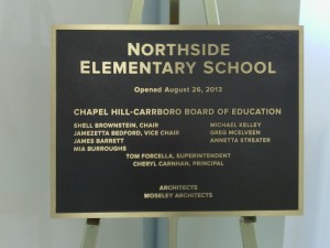 Northside Elementary School plaque