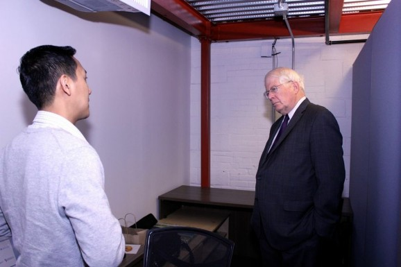 Oakkar with Congressman David Price