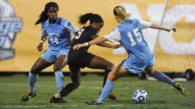 UNC Women's soccer action