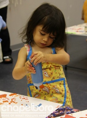 Yael hard at work creating her masterpiece!
