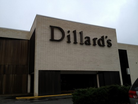 Current entrance to Dillard's at UMall