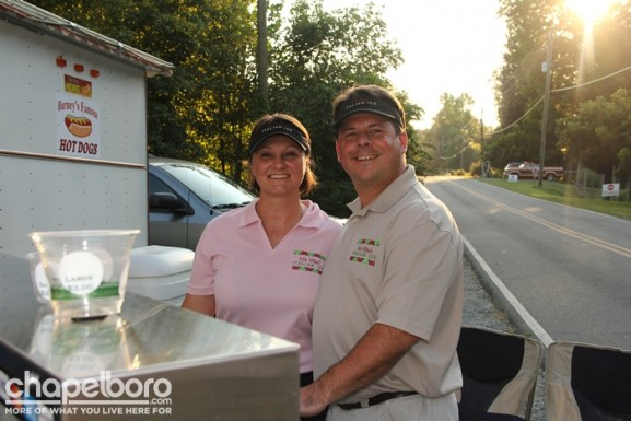 Candida Sabol-Wirtz and Tom Wirtz with Little Dippers Italian Ice