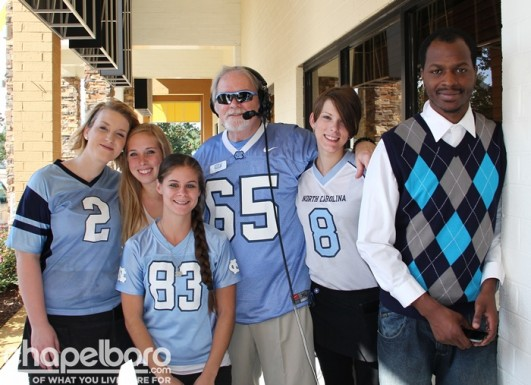 Christen McKnight, Hannah Burroughts, Ashley Adams, Ron Stutts, Diana Samples and Anthony Wellman at the Pre-Game Show!