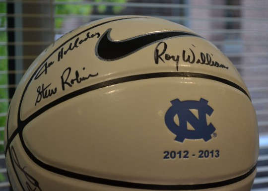 UNC Men's Basketball donation to SECU Family House.