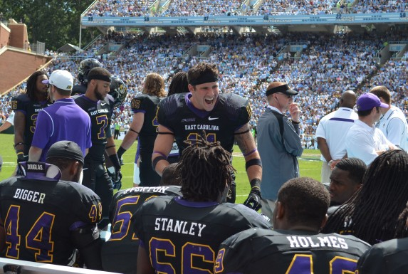 ECU's Damon Magazu was adamant about stopping UNC.
