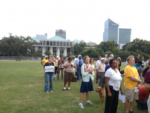 Moral Monday Mansion March; Photo by Rachel Nash