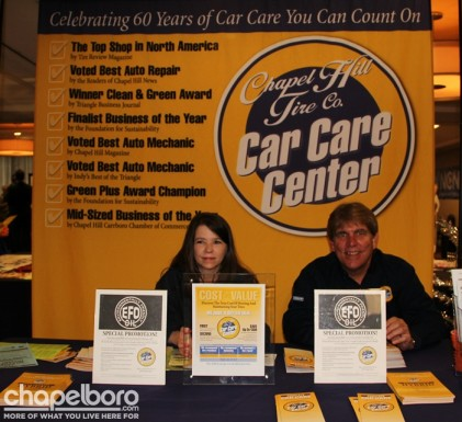 Kerri Steen and Mack Grady with Chapel Hill Car Care Center.