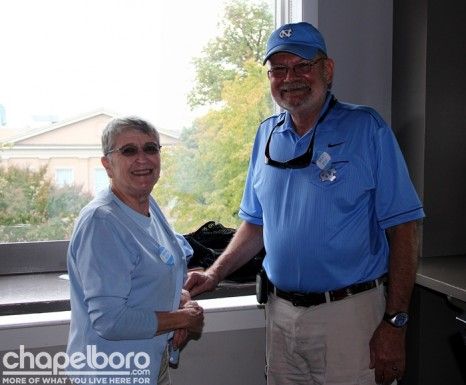 Lina Naylor and Paul Naylor were enjoying the view inside Top of the Hill