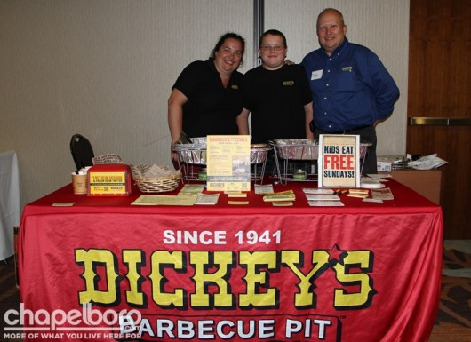 The fabulous people at Dickey's Barbecue Pit-Maureen Woloszczuk, Martin Woloszczuk and Gregory Woloszczuk