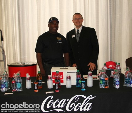 Thomas Torain with Coca-Cola and Justin Simmers