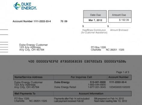 duke energy bill