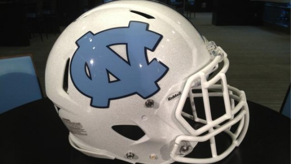 unc football helmet white