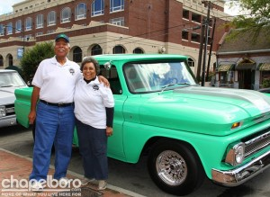 Billy Tarpley and Ethel Tarpley with their 1966 Chevy
