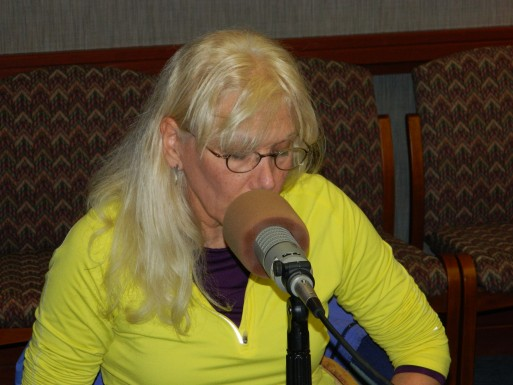 Pictured: Haven-O'Donnell at WCHL's 2013 Carrboro Board of Aldermen Forum