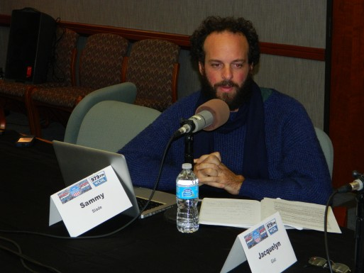 Pictured: Slade at WCHL's 2013 Carrboro Board of Aldermen Forum