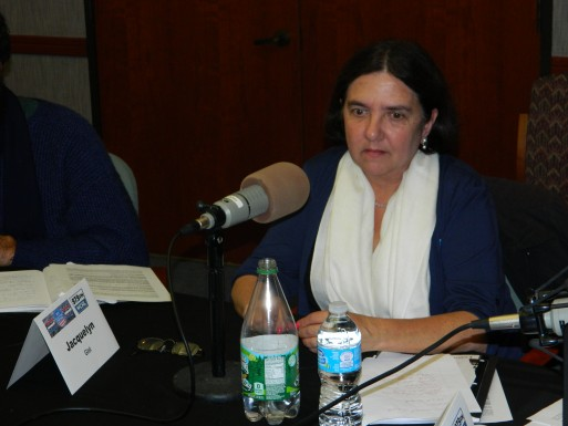 Pictured: Gist at WCHL's 2013 Carrboro Board of Aldermen Forum