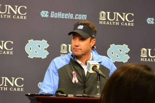 Coach Larry Fedora fields questions after Saturday's win.