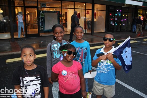 Demarcus, Mia, Branlye, Jalil and Jasiah were ready for the game!