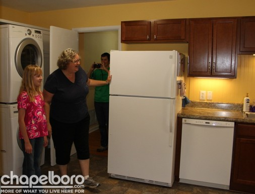 Elizabeth Prytherch and Susan Prytherch check out their new kitchen!