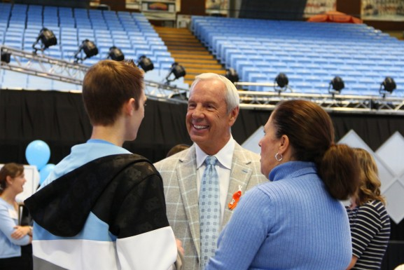 Coach Williams with Attendees