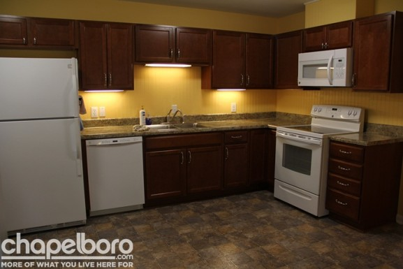The beautiful kitchen now has brand new appliances, floors and cabinets!