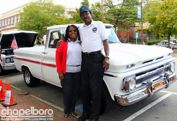 Jennifer Hill and Jessie Street with their 1966 Chevy C10.