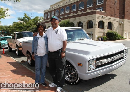Marilyn Cooper and Otis Cooper with their 1970 Chevy C10.