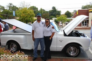 Mel Wade and Sharon Holding with their 1967 Chevy.