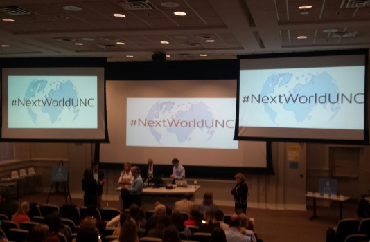 The Next World Media Symposium was held at UNC-Chapel Hill's Murphey Hall on Friday
