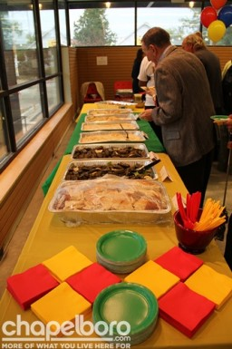 The delicious food was provided by Med Deli, Vimalia's and the Siena Hotel