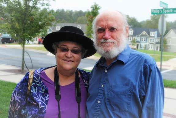 Susan Siegel (Charles House) and John Claydon (assistant and volunteer)