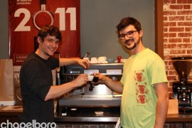 James Barber and Josh Kimbrough were on hand to craft the coffee selections!