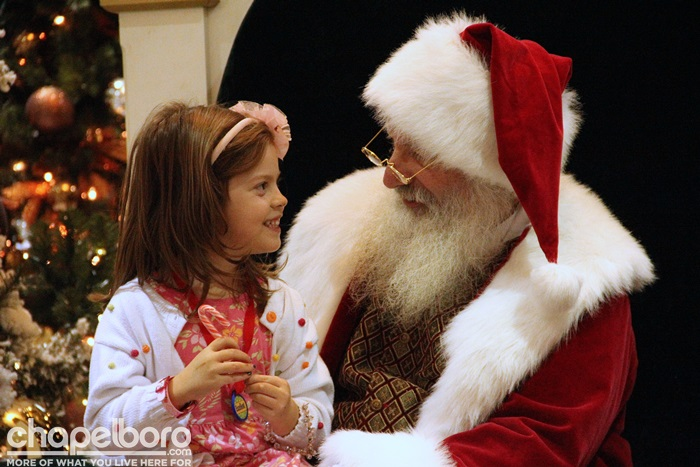 Sophie Alexandra spent a long time chatting with Santa!